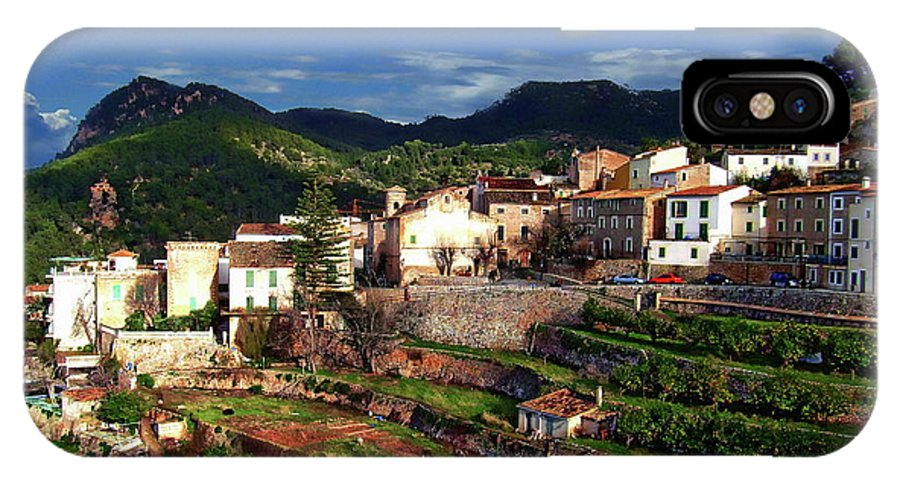 Spain IPhone X / XS Case featuring the photograph Spanish Terraces by Anthony Dezenzio