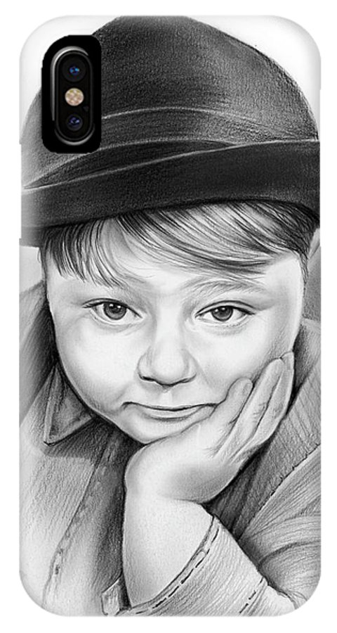 Spanky IPhone X Case featuring the drawing Spanky by Greg Joens