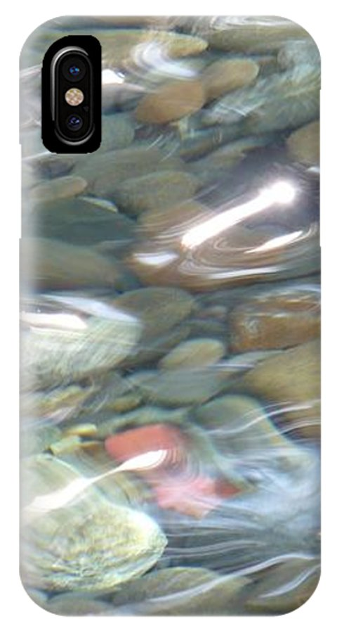 Sparkling Water IPhone X Case featuring the photograph Sparkling Water On Rocky Creek 2 by Carol Groenen