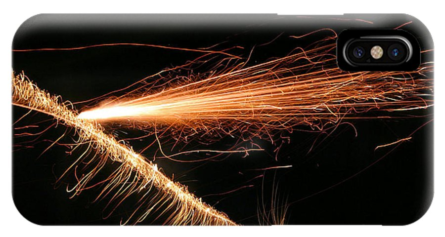 Sparks IPhone X Case featuring the photograph Sparks Will Fly by Kristin Elmquist