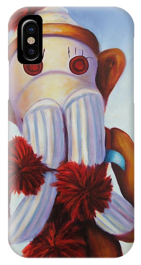 Children IPhone X Case featuring the painting Speak No Bad Stuff by Shannon Grissom