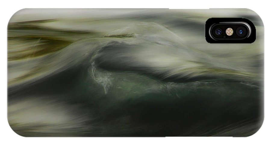 Water IPhone X / XS Case featuring the photograph Speaking Sofly by Donna Blackhall