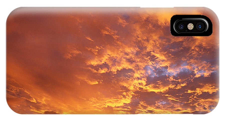 C1740 IPhone X Case featuring the photograph Spectacular Sunrise by Mary Van de Ven - Printscapes