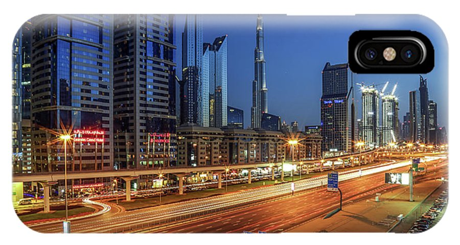 City IPhone X Case featuring the photograph Speedy Road by Ashraf Habib