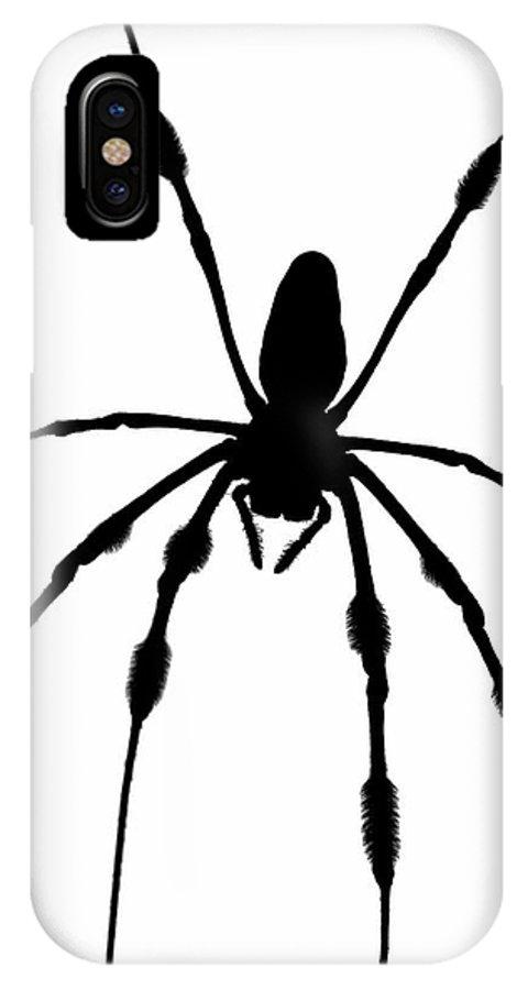 Halloween IPhone X Case featuring the photograph Spider Card by Robert Wilder Jr