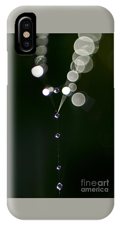 Aranae IPhone X Case featuring the photograph Spider Web Abstracts by Jim Corwin
