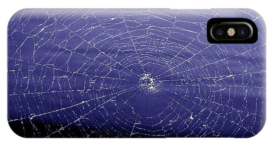 Web IPhone X Case featuring the digital art Spiderweb by Kenna Westerman