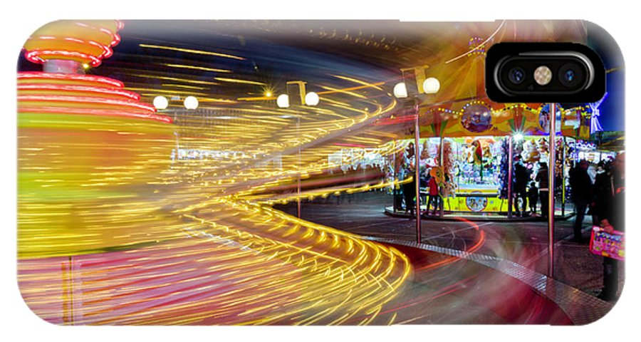 Luna Park IPhone X / XS Case featuring the photograph Spin Until Dizzy by Wolfgang Stocker
