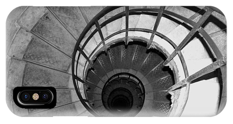 Spiral Staircase IPhone X Case featuring the photograph Spiral Staircase At The Arc by Donna Corless