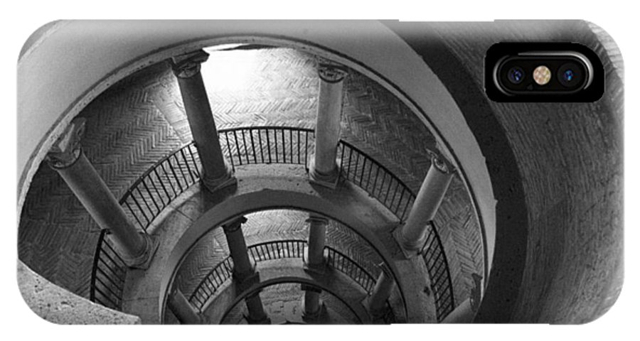 Spiral Staircase IPhone X Case featuring the photograph Spiral Staircase by Donna Corless