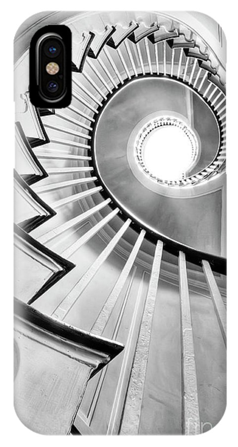 Spiral Staircase IPhone X Case featuring the photograph Spiral Staircase Lowndes Grove by Dustin K Ryan