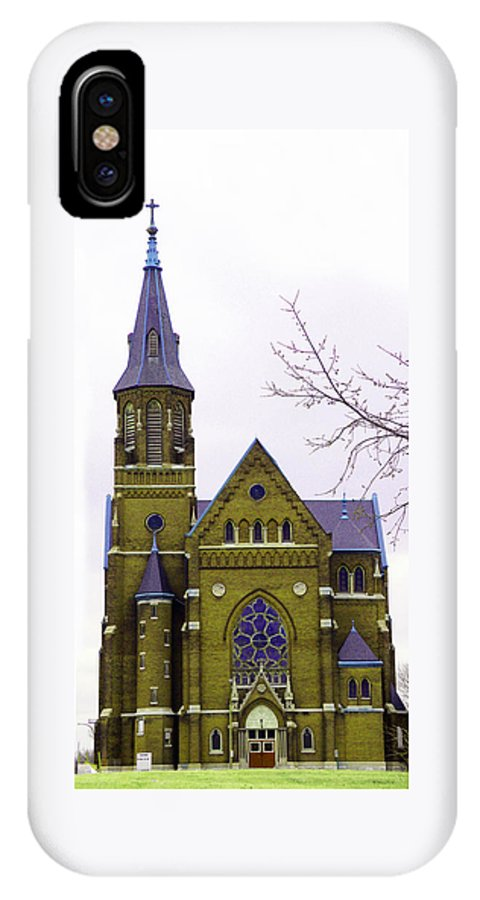 Spire IPhone X / XS Case featuring the photograph Spire by Albert Stewart