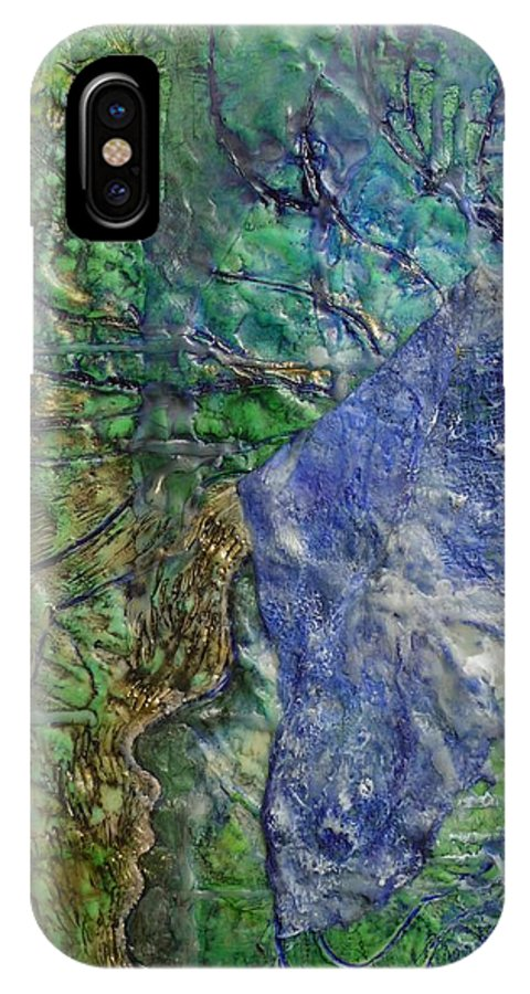 Spirit Guide IPhone X Case featuring the painting Spirit Guide For Eve by Heather Hennick
