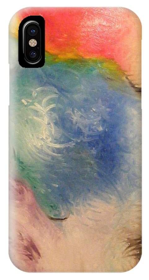 Abstract IPhone X Case featuring the painting Spirit by Kim Rahal