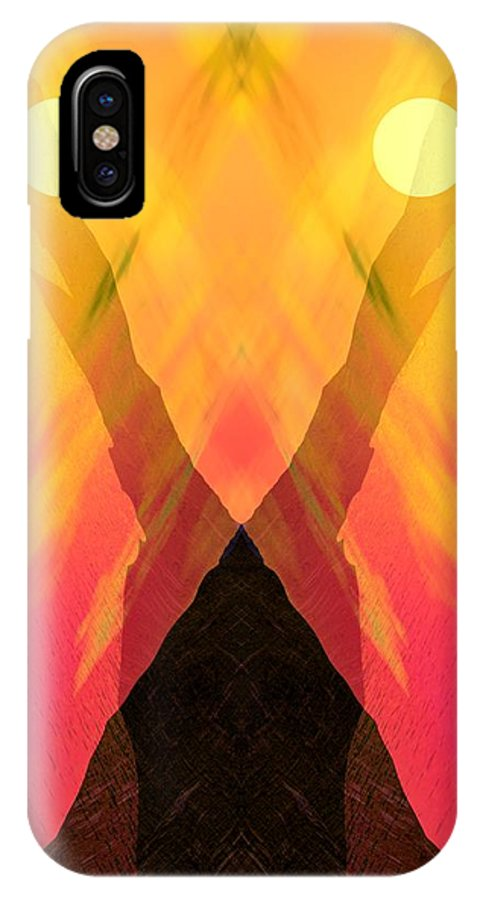 IPhone X Case featuring the digital art Spirit Of The Mountain by David Lane