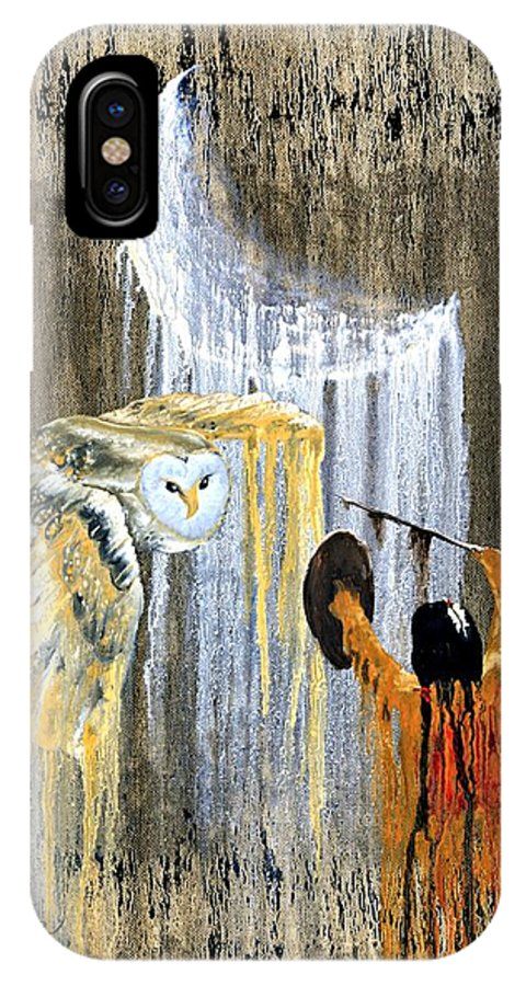 Indian Art IPhone Case featuring the painting Spirit Of The Night by Patrick Trotter