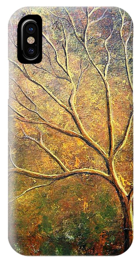 IPhone X Case featuring the painting Spirit Tree 5 by Tami Booher