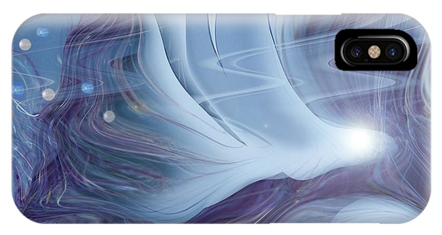 Abstract IPhone X Case featuring the digital art Spirit World by Linda Sannuti