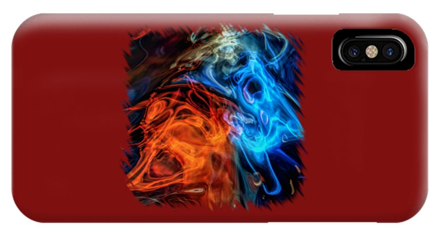 Abstract IPhone X Case featuring the photograph Spirits For Accessories by John M Bailey