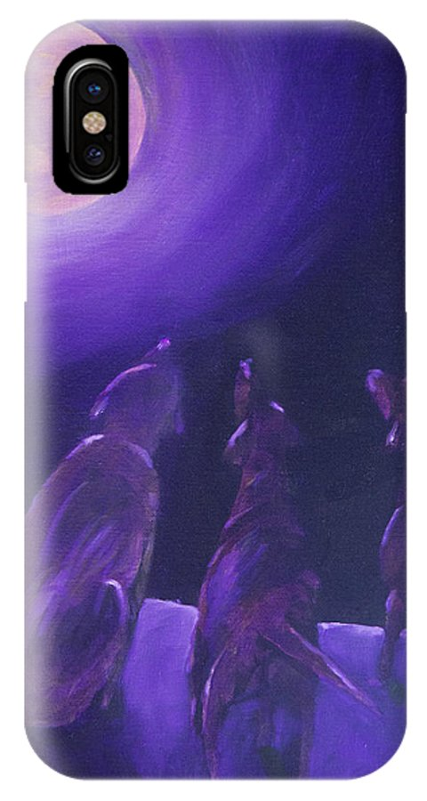 Labrador Retriever IPhone X Case featuring the painting Spirits In The Night by Roger Wedegis