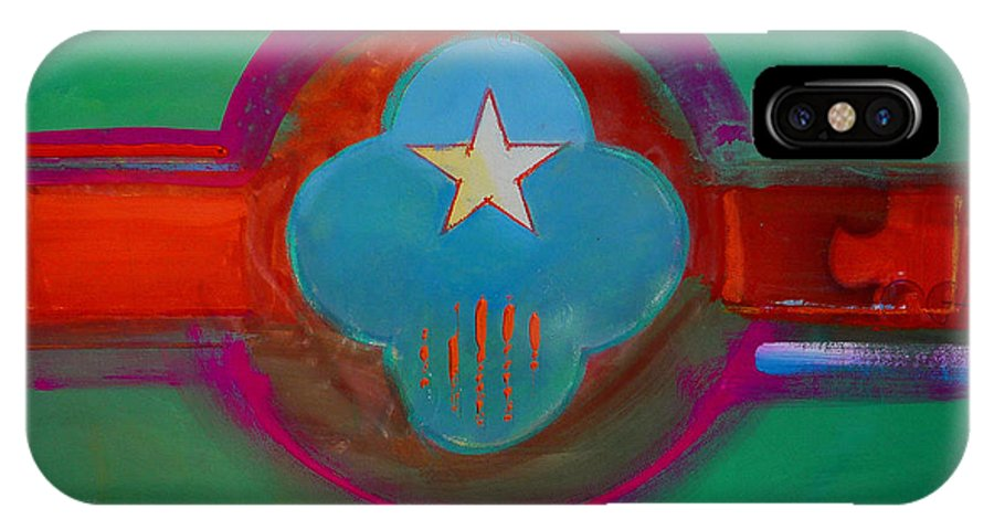 Star IPhone X Case featuring the painting Spiritual Green by Charles Stuart