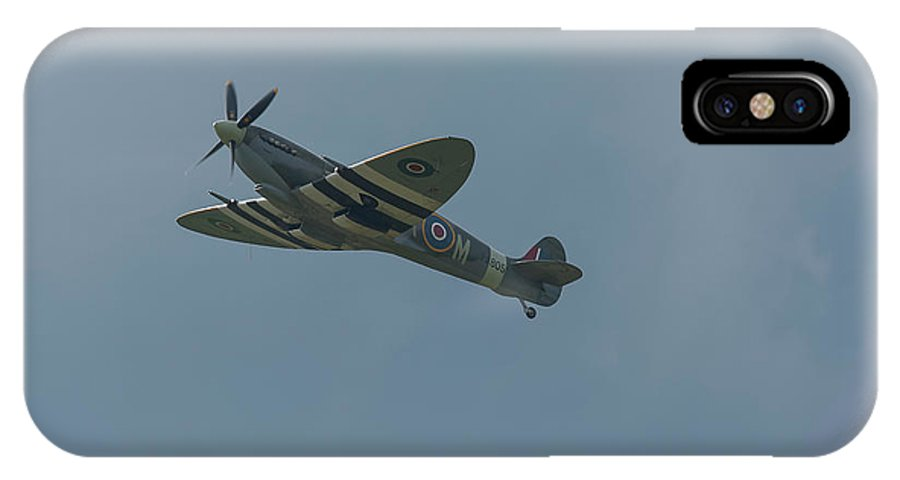 Spitfire IPhone X Case featuring the photograph Spitfire In Flight by Philip Pound