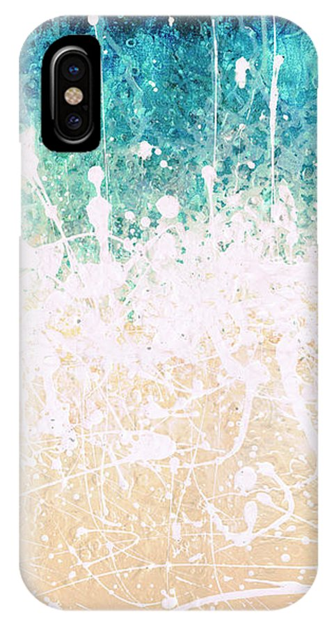 Abstract IPhone X Case featuring the painting Splash by Jaison Cianelli