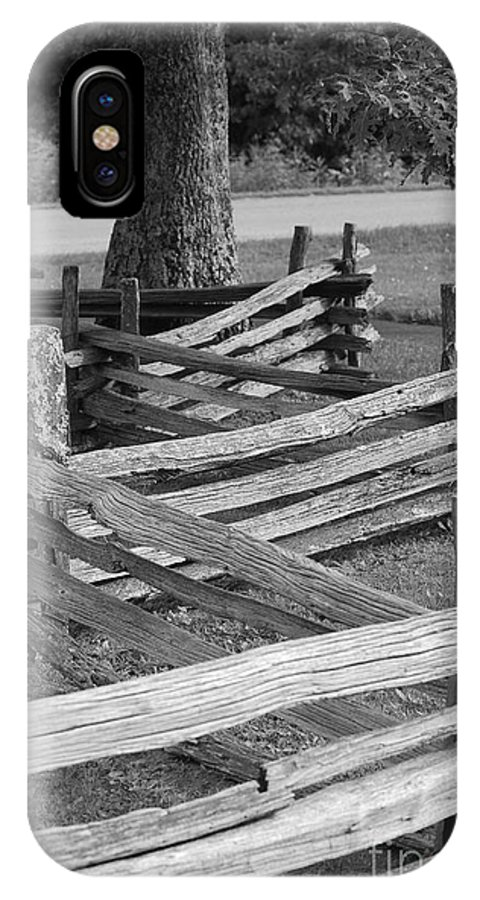 Road IPhone X Case featuring the photograph Split Rail Fence by Eric Liller