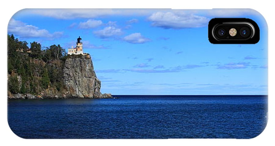 Split Rock Lighthouse IPhone X Case featuring the photograph Split Rock Pano by Dale Niesen