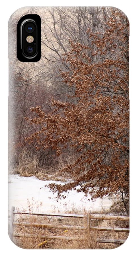 Winter IPhone X Case featuring the photograph Splitrail Winter by Karen French