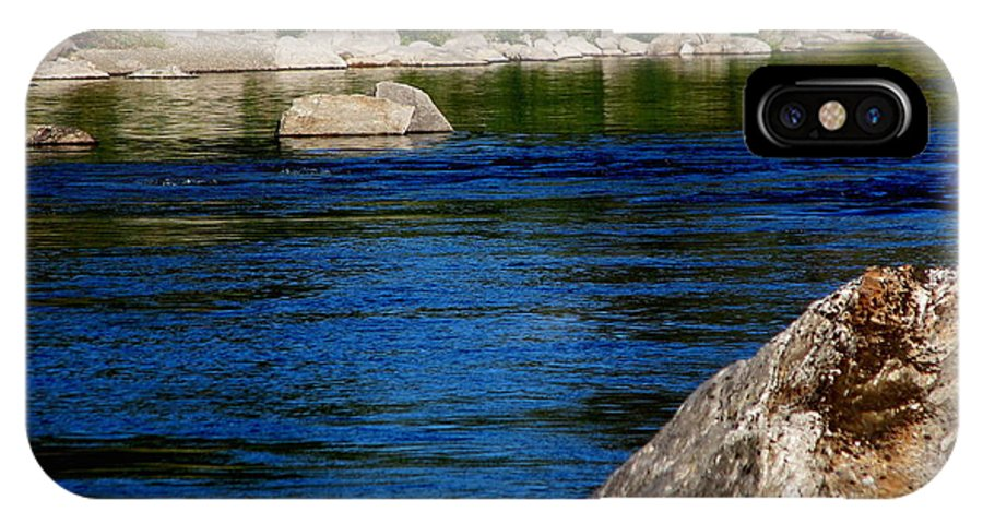 Patzer IPhone X Case featuring the photograph Spokane River by Greg Patzer