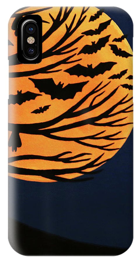 Spooky Bat Tree IPhone X Case