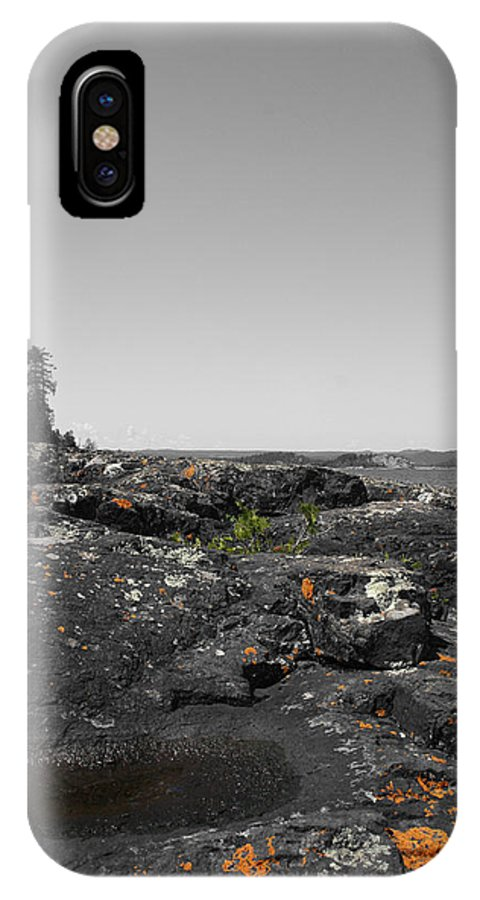 Landscape IPhone X Case featuring the photograph Spotted Rocks by Dylan Punke