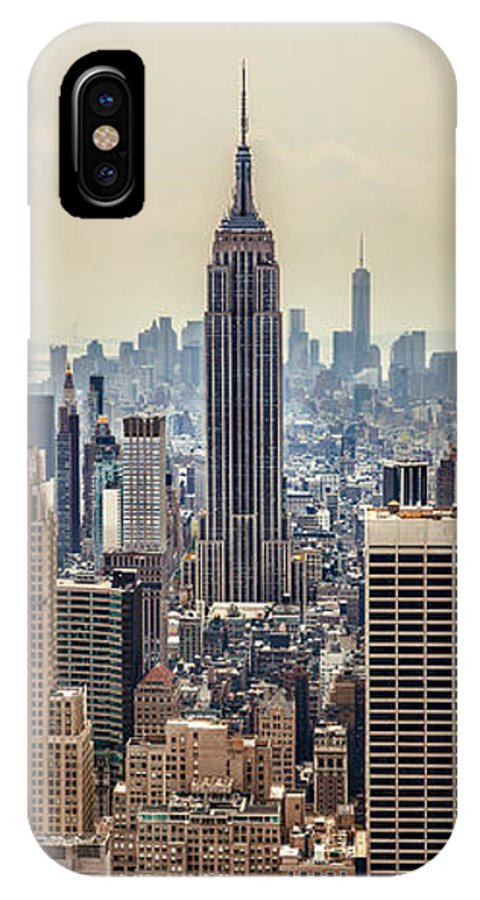 Empire State Building IPhone X Case featuring the photograph Sprawling Urban Jungle by Az Jackson