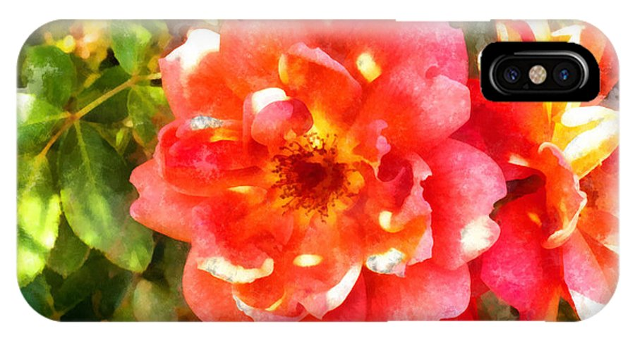 Red Rose IPhone X / XS Case featuring the photograph Spread Petals Of A Red Rose by Ashish Agarwal