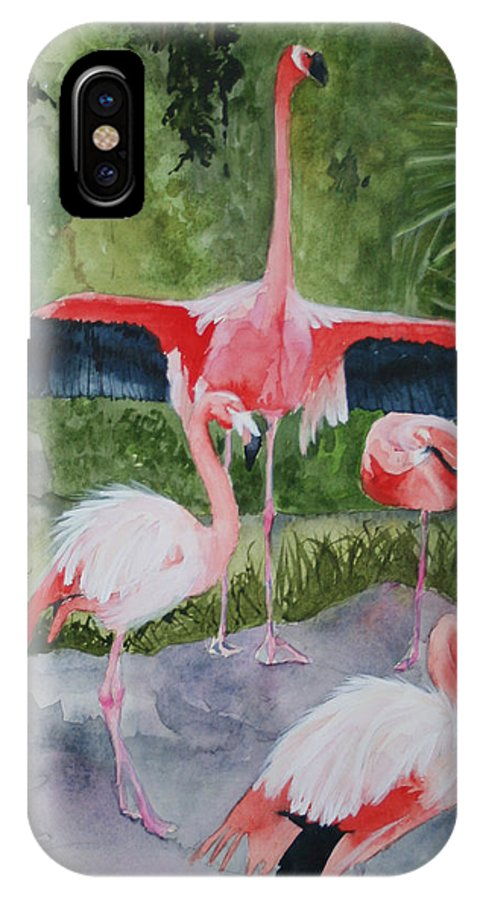 Wings IPhone X Case featuring the painting Spreading My Wings by Jean Blackmer