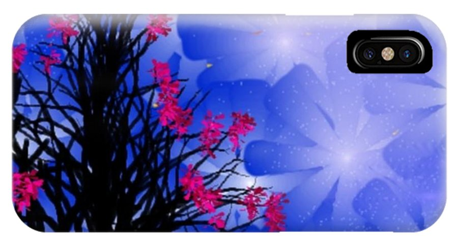 Spring IPhone X Case featuring the digital art Spring 2 by Dr Loifer Vladimir