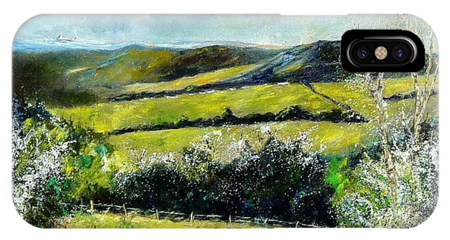 Landscape IPhone X Case featuring the print Spring 79 by Pol Ledent