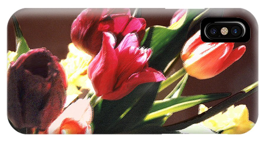 Floral Still Life IPhone X Case featuring the photograph Spring Bouquet by Steve Karol