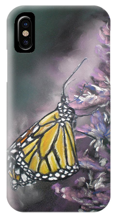 Spring IPhone X Case featuring the painting Spring by Cathy Weaver