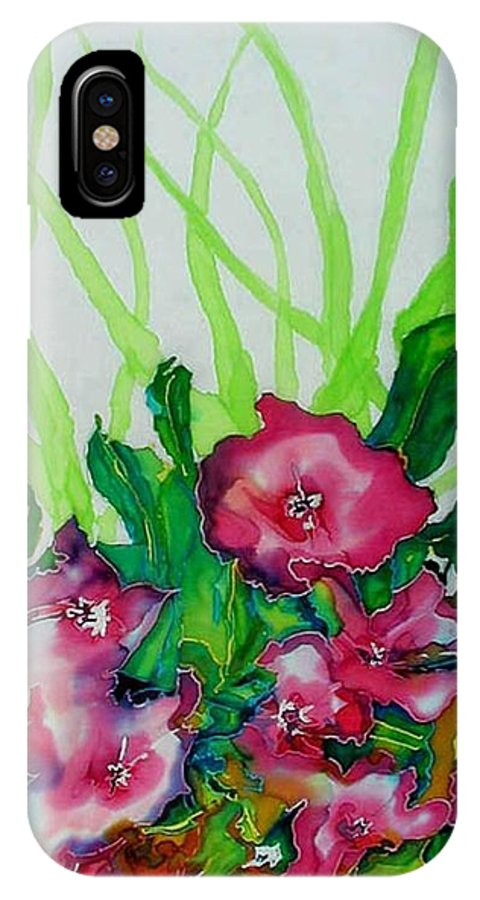 Flora IPhone X Case featuring the painting Spring Celebration 1 by Ferril Nawir