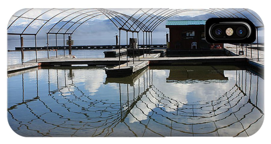 Spring IPhone X Case featuring the photograph Spring Docks On Priest Lake by Carol Groenen