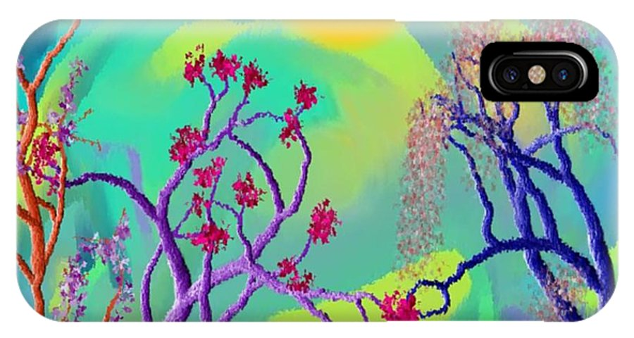 Spring IPhone X Case featuring the digital art Spring Fantasy by Dr Loifer Vladimir