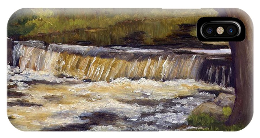 Water IPhone X Case featuring the painting Spring Flow by Sharon E Allen
