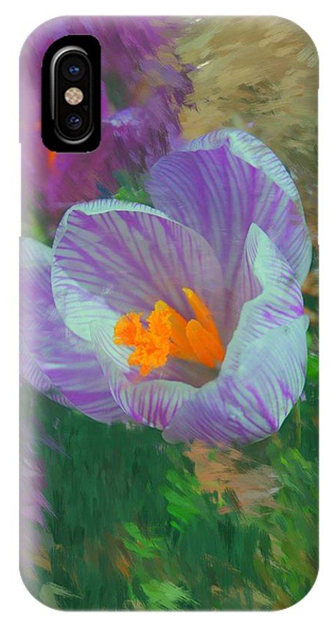 Digital Photography IPhone X Case featuring the digital art Spring Has Sprung by David Lane
