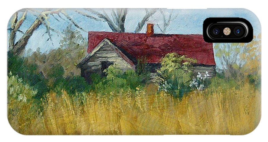 Landscape IPhone Case featuring the painting Spring Hay by Peter Muzyka