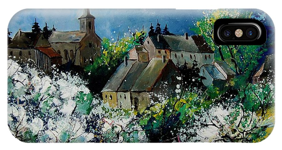 Spring IPhone X Case featuring the painting Spring In Fays Famenne by Pol Ledent