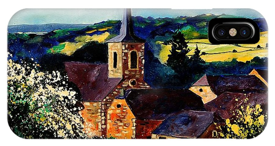 Spring IPhone Case featuring the painting Spring In Gendron by Pol Ledent