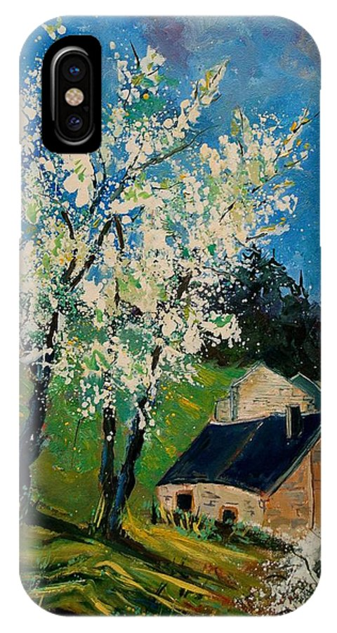 Spring IPhone X Case featuring the painting Spring In Hierges by Pol Ledent