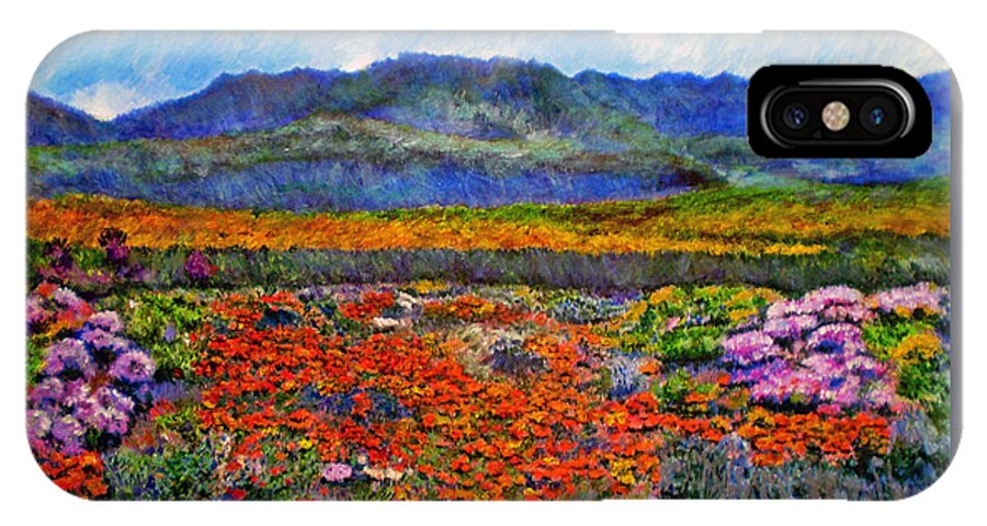 Spring IPhone X Case featuring the painting Spring in Namaqualand by Michael Durst